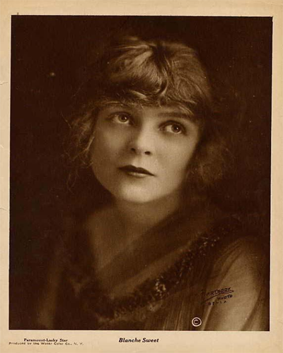 1920 photo of silent screen star Blanche Sweet