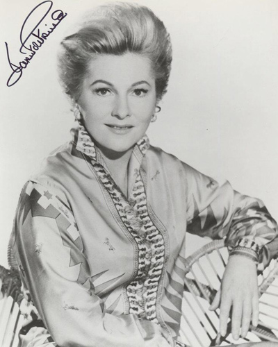 Signed photograph of Joan Fontaine - a movie star of the 1930s, 40s and 50s.