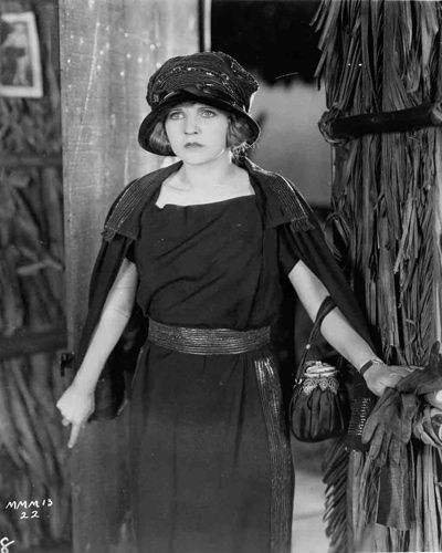 Original portrait of Mary Miles Minter from the film South Of Suva. Minter was only 20 when she made this film and became involved in a very big Hollywood scandal involving the murder of director William Desmond Taylor.