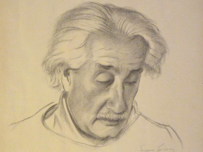 Albert Einstein Lithograph