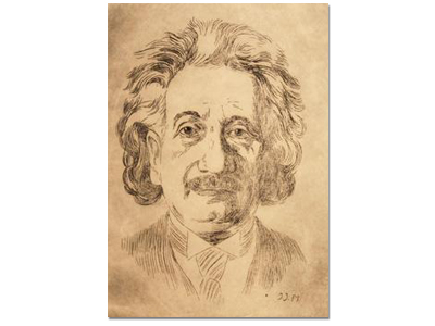 Original Etching of Albert Einstein